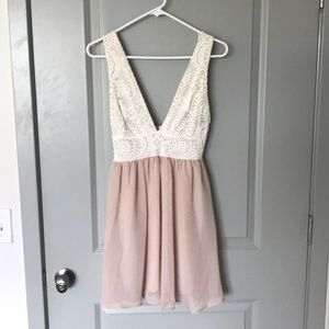 White and pink dress from 2 Hearts